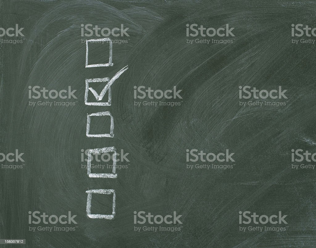 Checklist at the chalkboard royalty-free stock photo