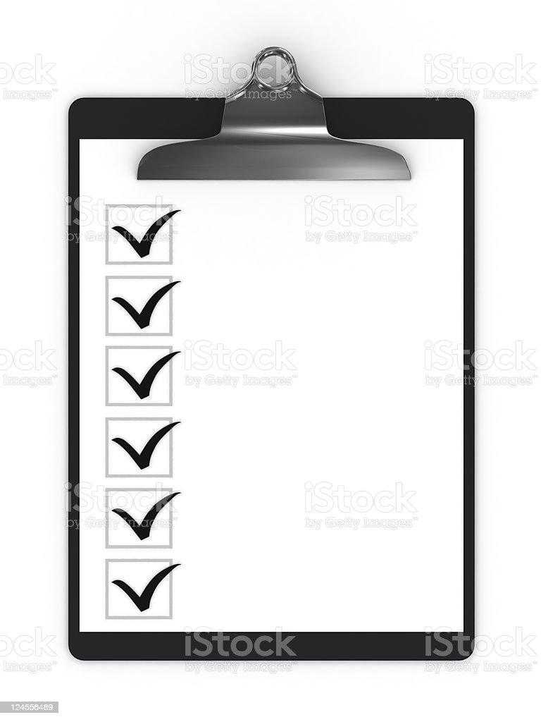 Checklist Clipboard royalty-free stock photo
