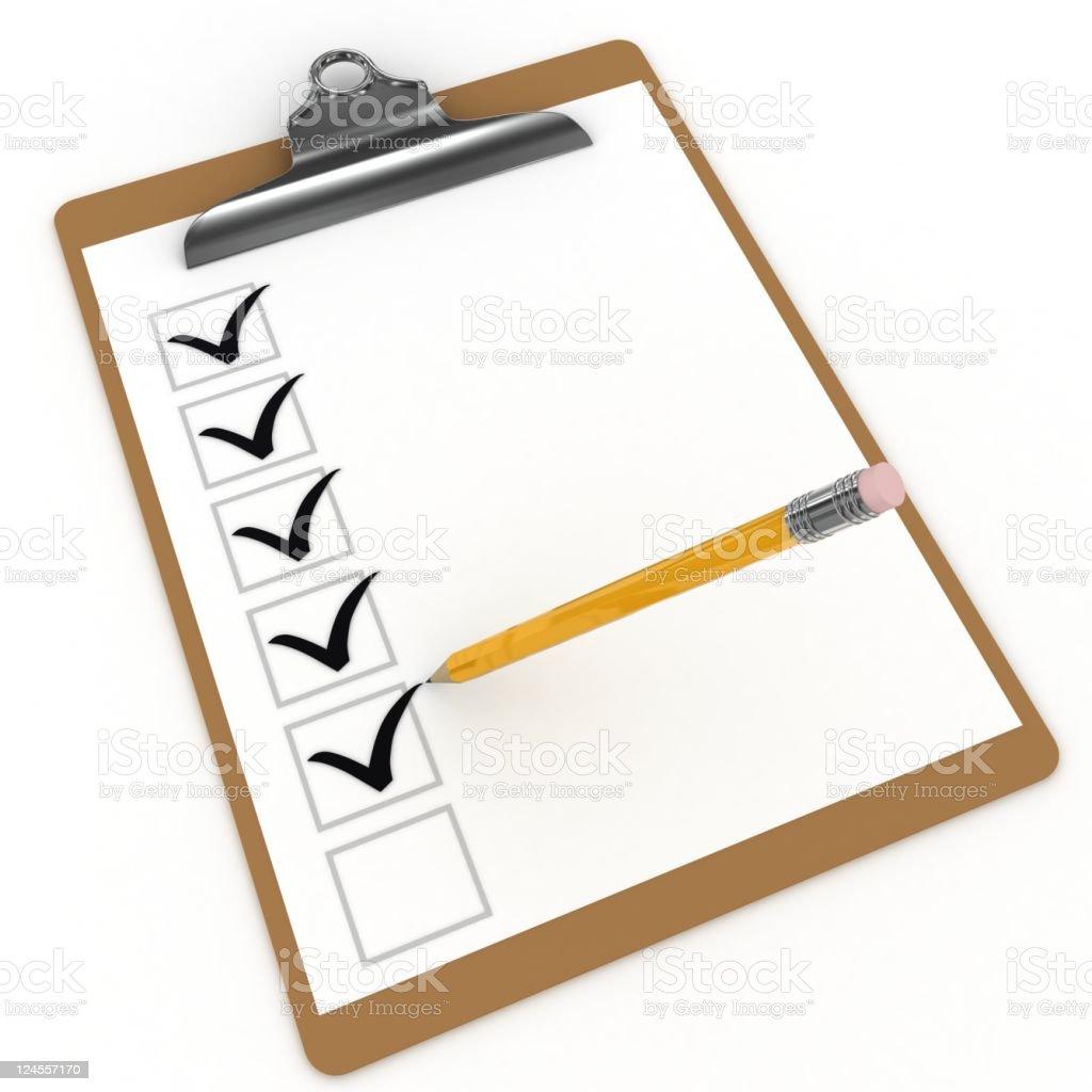 Checklist Clipboard royalty-free stock photo