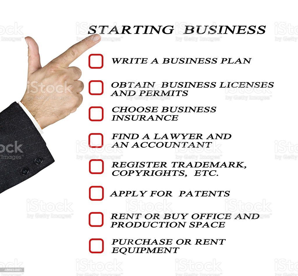 Checklist for starting business stock photo
