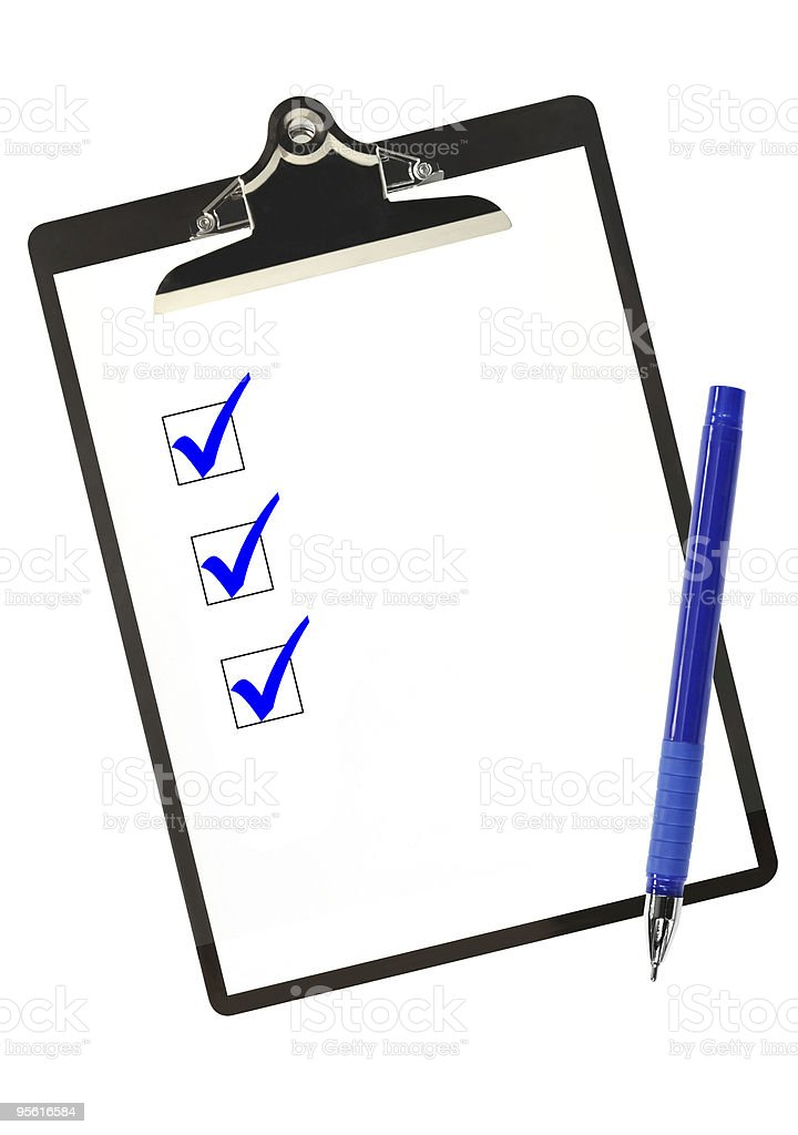 Checklist in Blue royalty-free stock photo