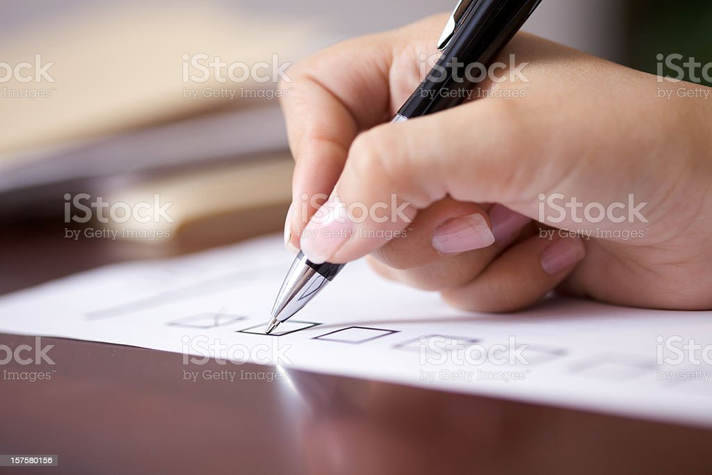 Checklist stock photo