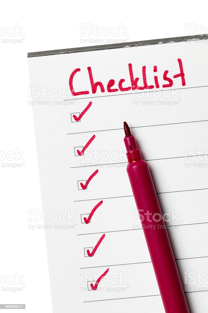Checklist royalty-free stock photo