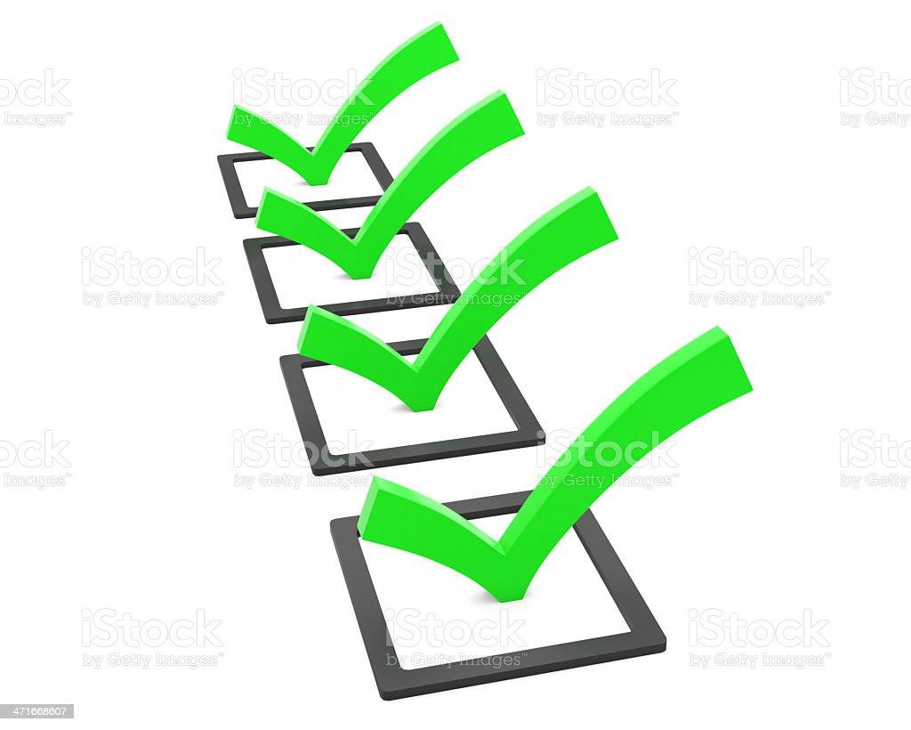 checklist royalty-free stock photo