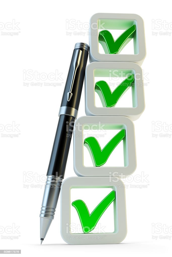 Checklist with checkboxes icon stock photo