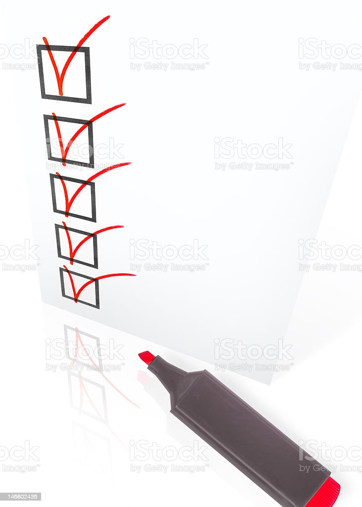 Checklist with pen royalty-free stock photo