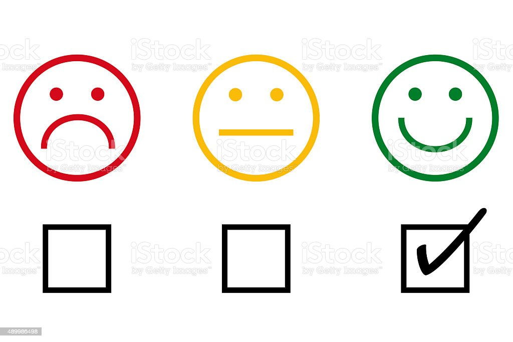 checklist with smileys stock photo