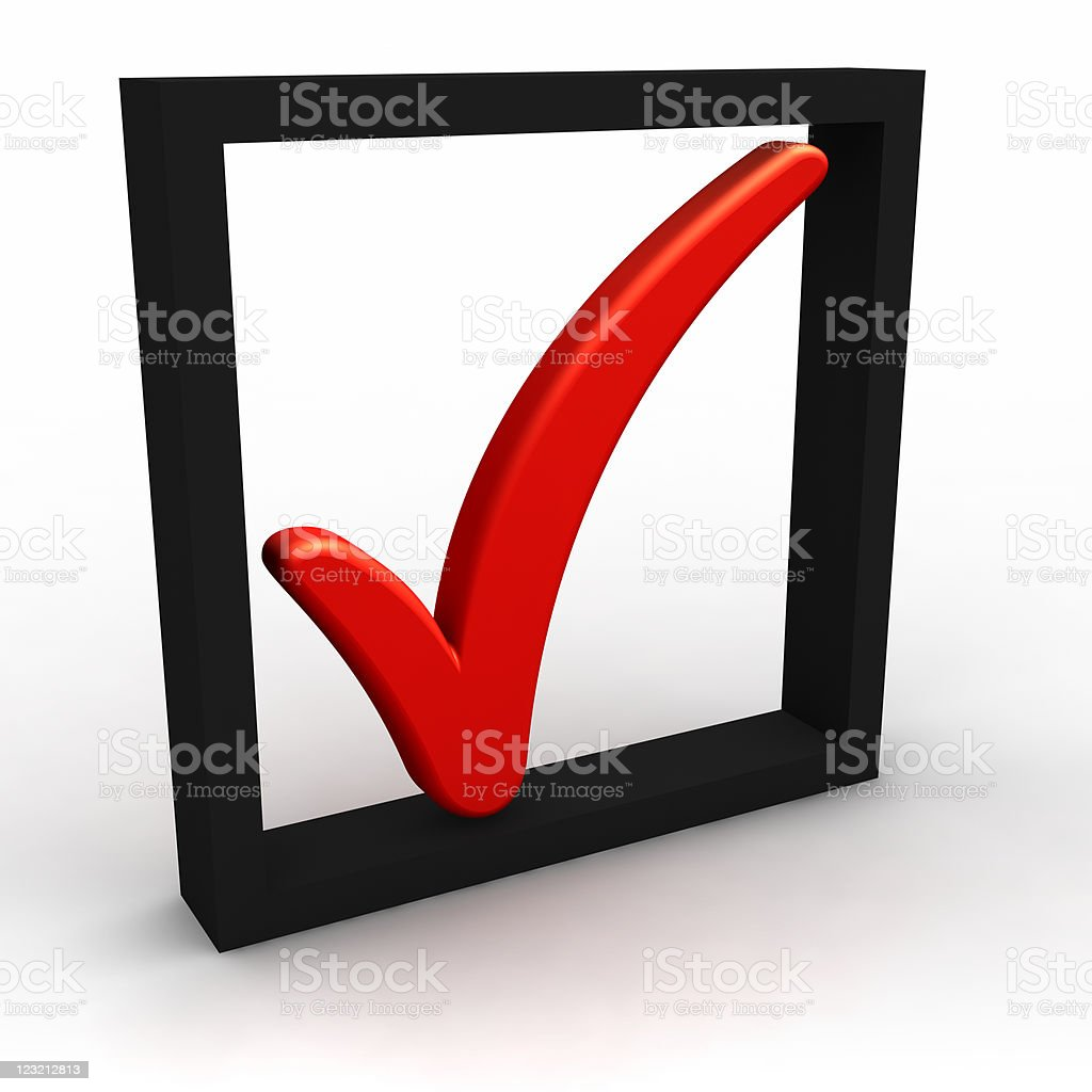 CheckMark in the black square frame royalty-free stock photo