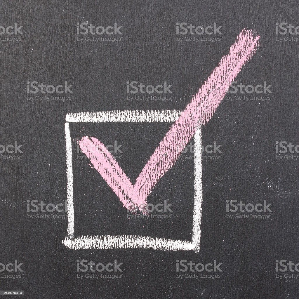 checkmark stock photo