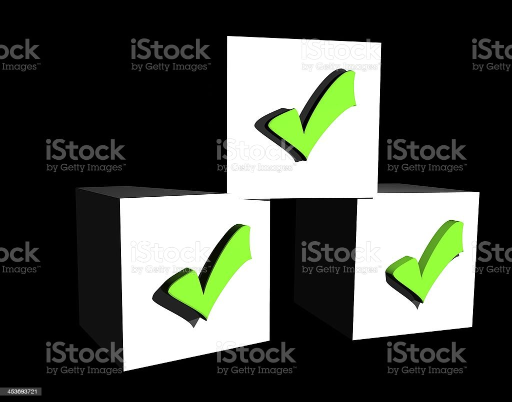 checkmarks stock photo