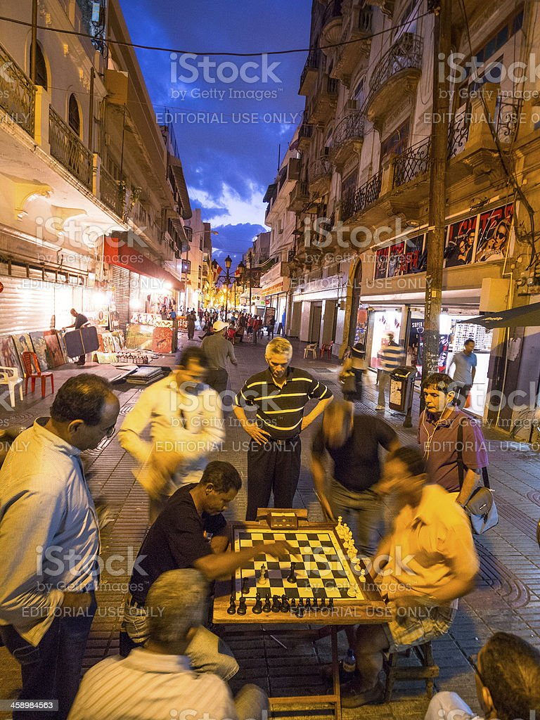 Checkmate - chess players in Santo Domingo, Dominican Republic royalty-free stock photo