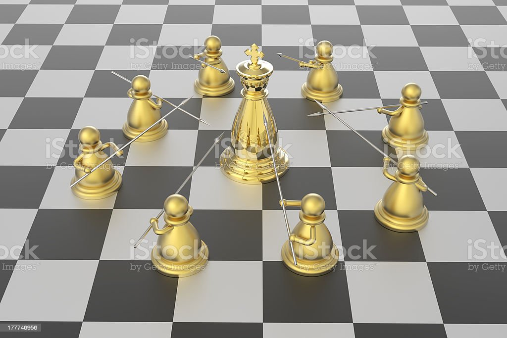 Checkmate in chess competition royalty-free stock photo
