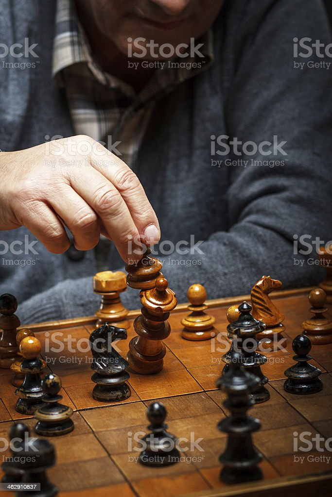 Checkmate in chess. stock photo