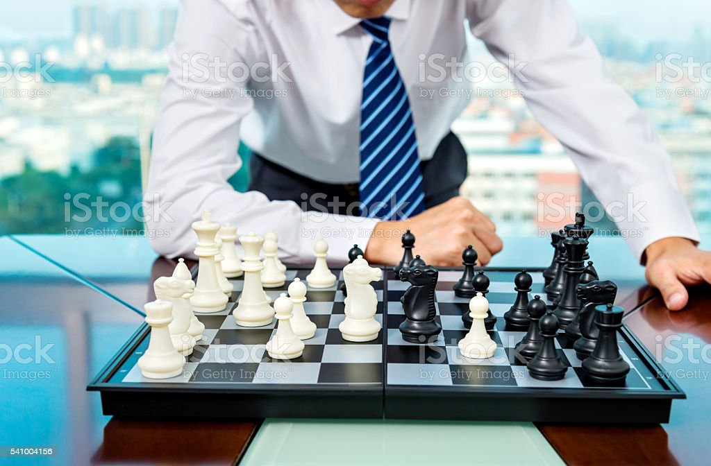 Checkmate strategy stock photo
