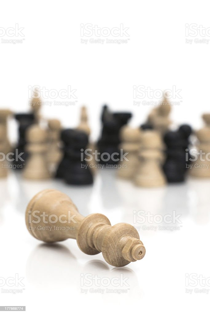 Checkmate the King is dead royalty-free stock photo