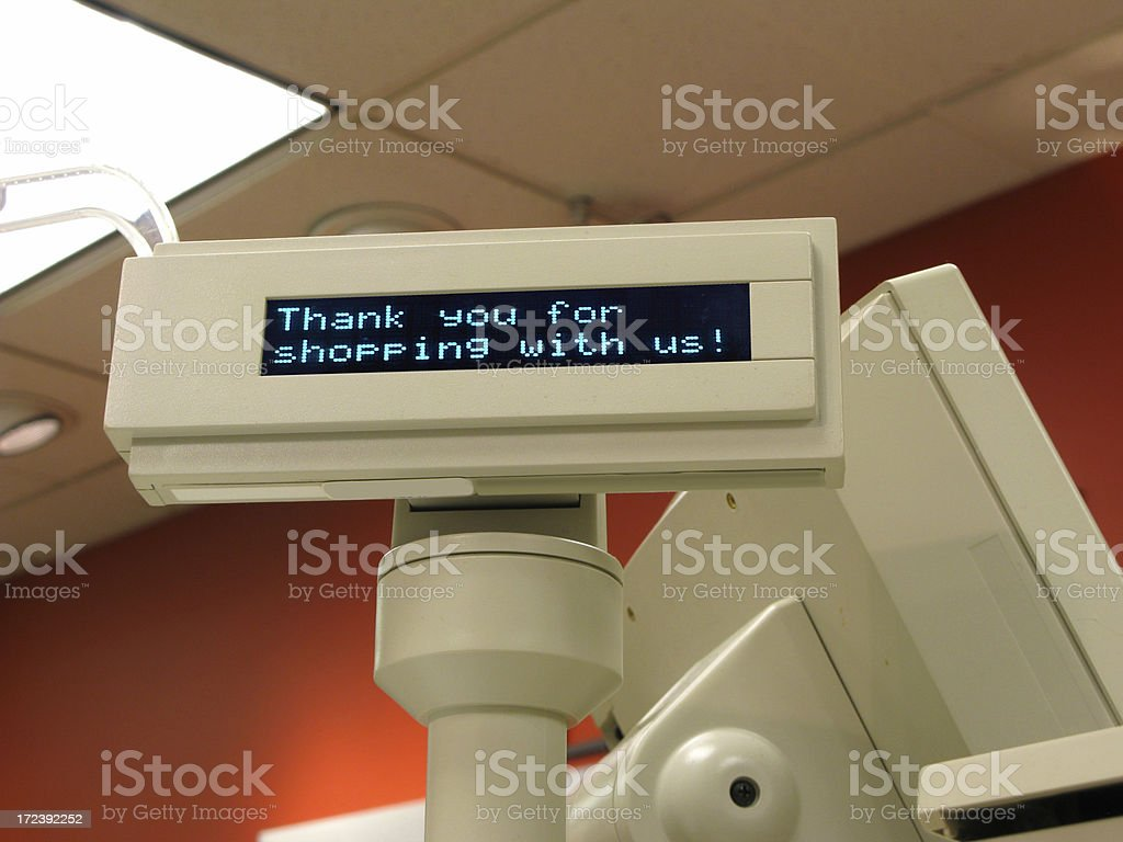 Checkout register display royalty-free stock photo