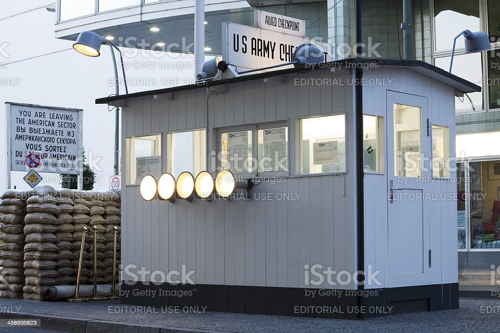 Checkpoint Charlie, Berlin, Germany royalty-free stock photo