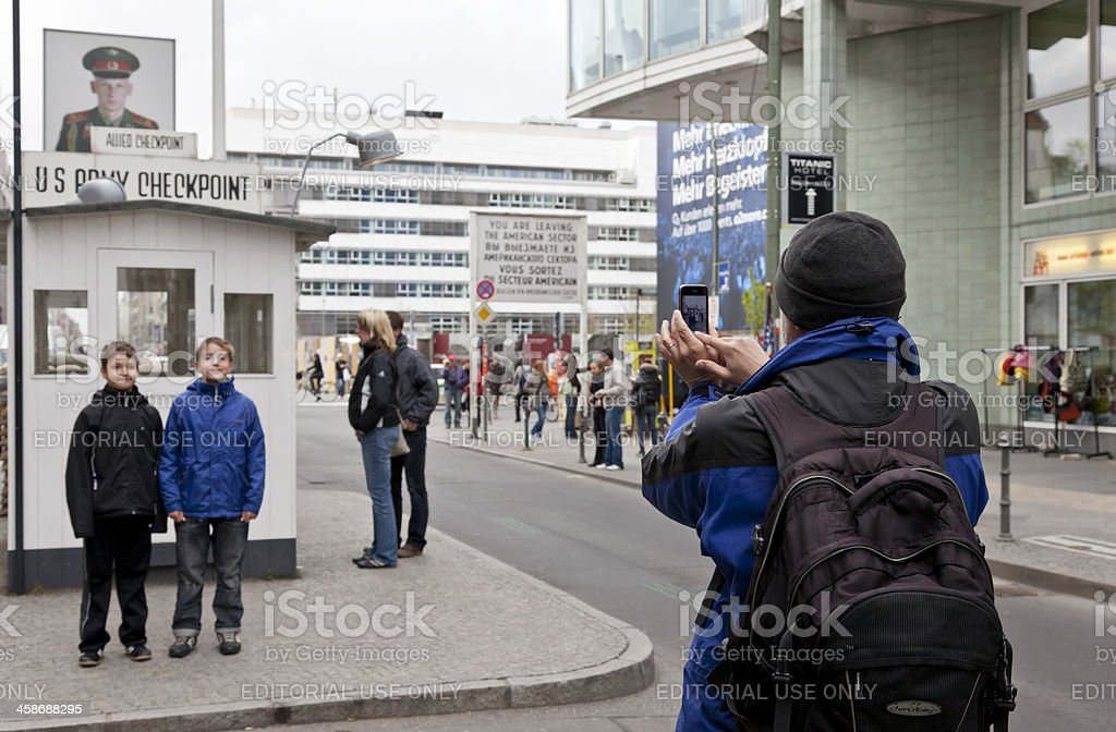Checkpoint Charlie - Berlin stock photo