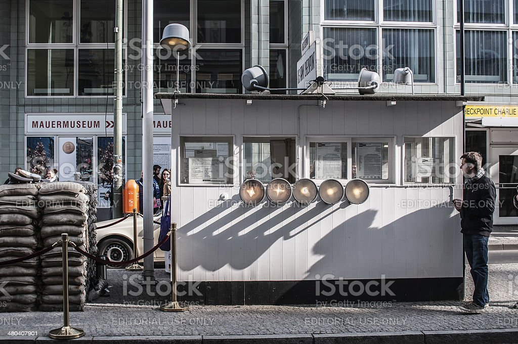 Checkpoint Charlie, Berlin stock photo