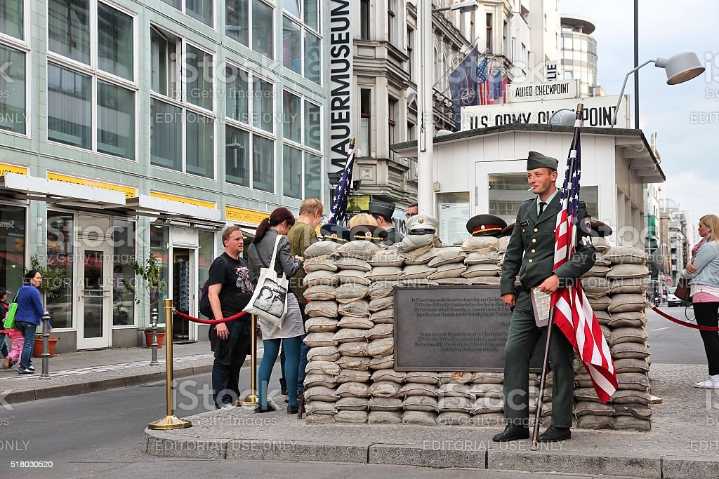 Checkpoint Charlie stock photo