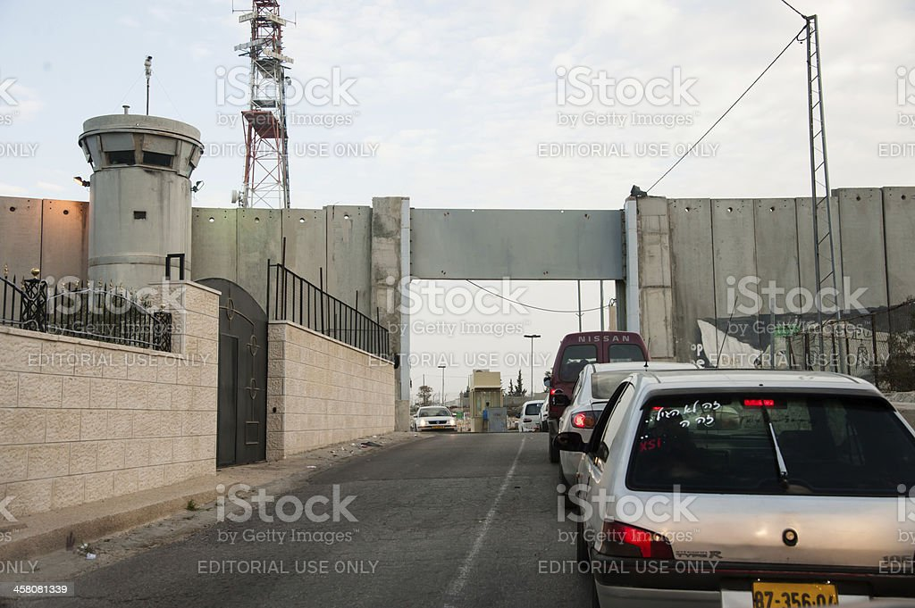 Checkpoint in Israeli separation wall royalty-free stock photo