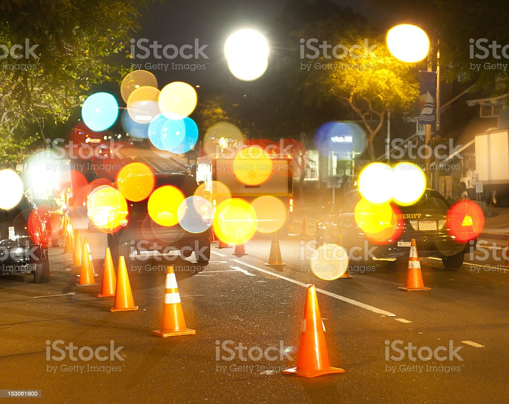 Checkpoint Lights stock photo