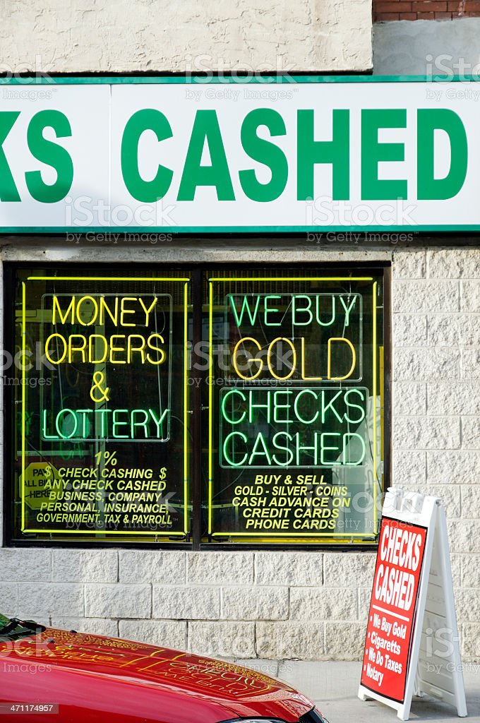 Checks cashed - pawn shop in Philadelphia stock photo