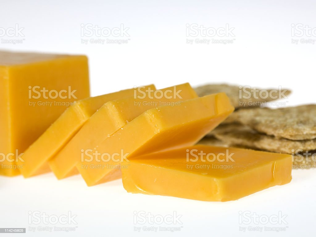 Cheddar Cheese and crackers royalty-free stock photo