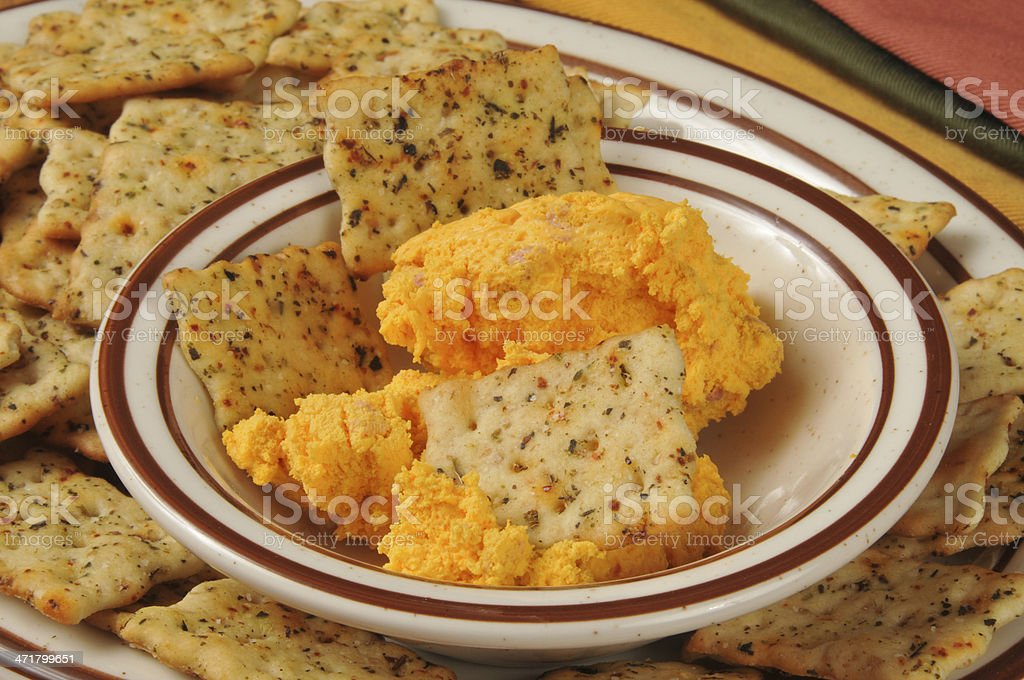 cheddar cheese spread royalty-free stock photo