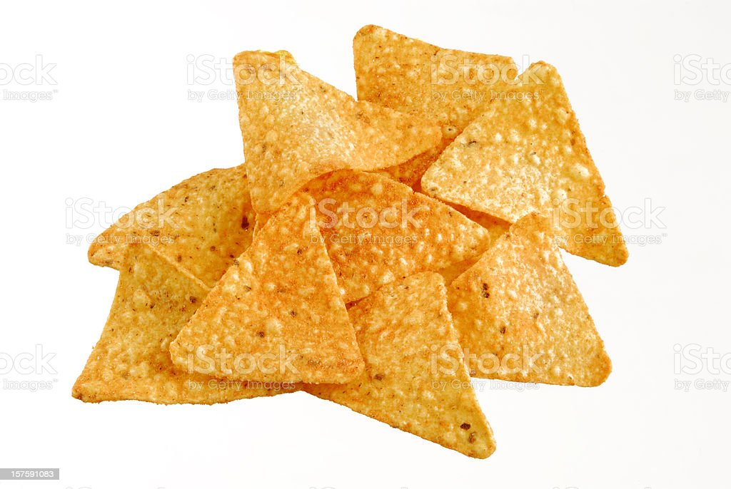 Cheddar Flavor Tortilla Chips royalty-free stock photo