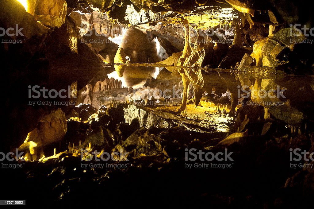 Cheddar Gorge Caves stock photo