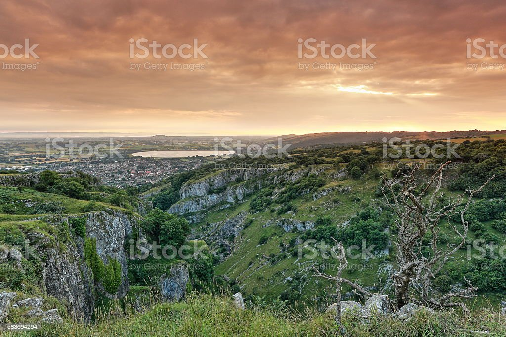 Cheddar Gorge stock photo