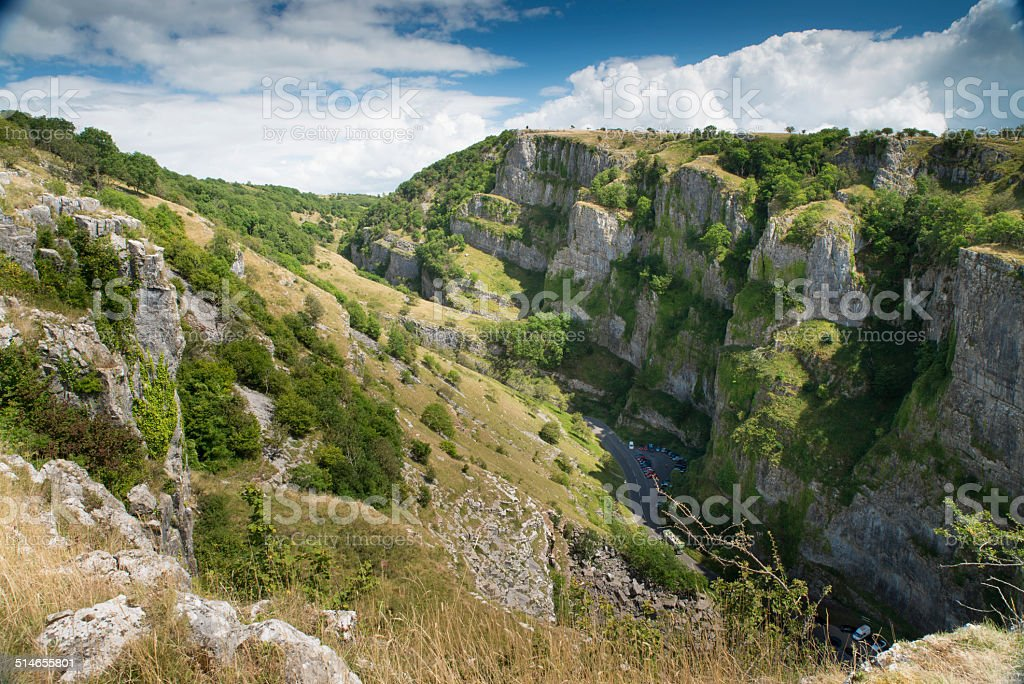 Cheddar Gorge, Somerset, UK stock photo