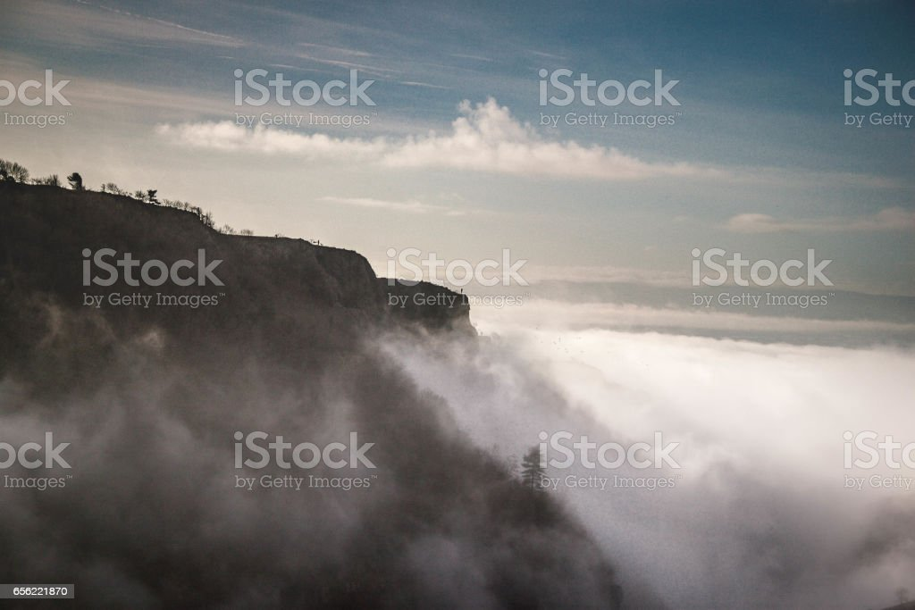 Cheddar Gorge, View from above stock photo