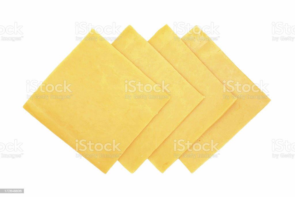 cheddar slices stock photo