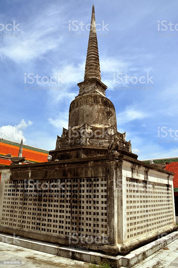 Chedi at Wat Phra Mahathat, Nakhon Si Thammarat, Thailand stock photo