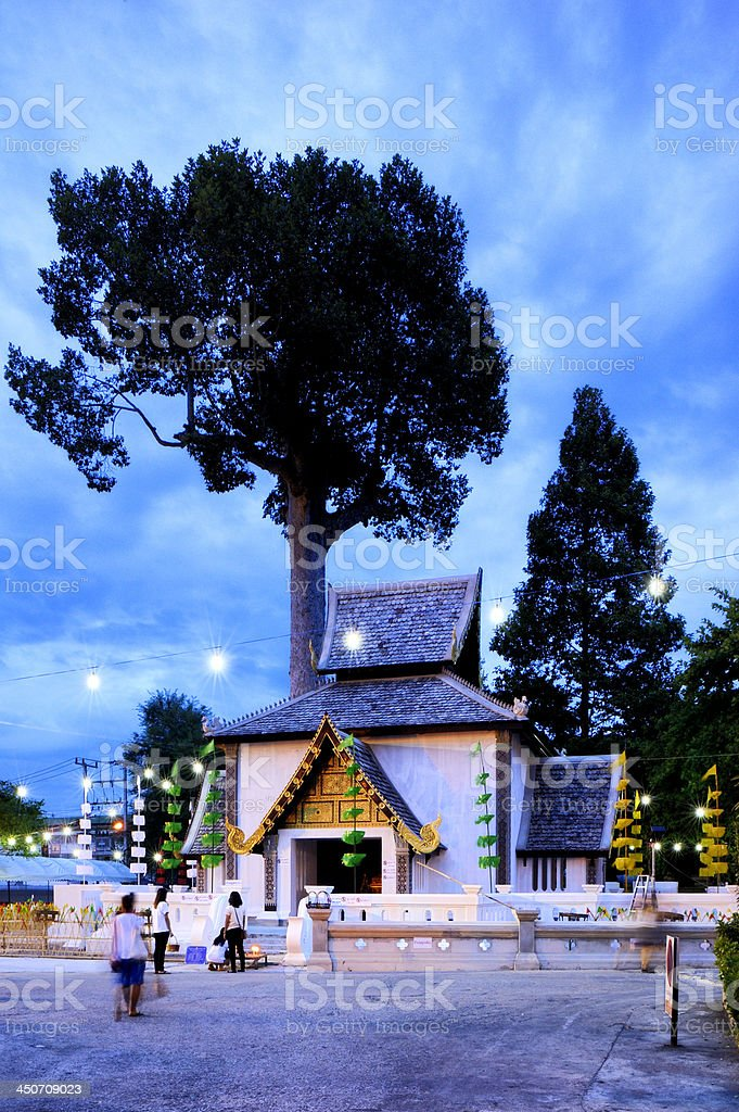 Chedi Luang temple : Chiang Mai Thailand. royalty-free stock photo