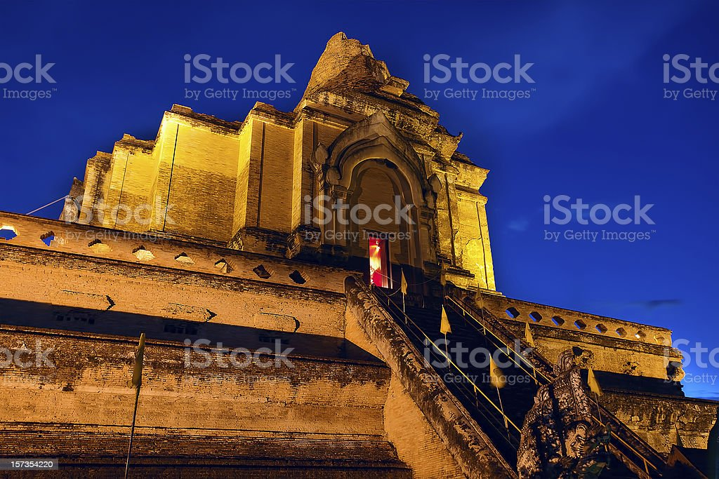 chedi luang temple in chiang mai,thailand royalty-free stock photo