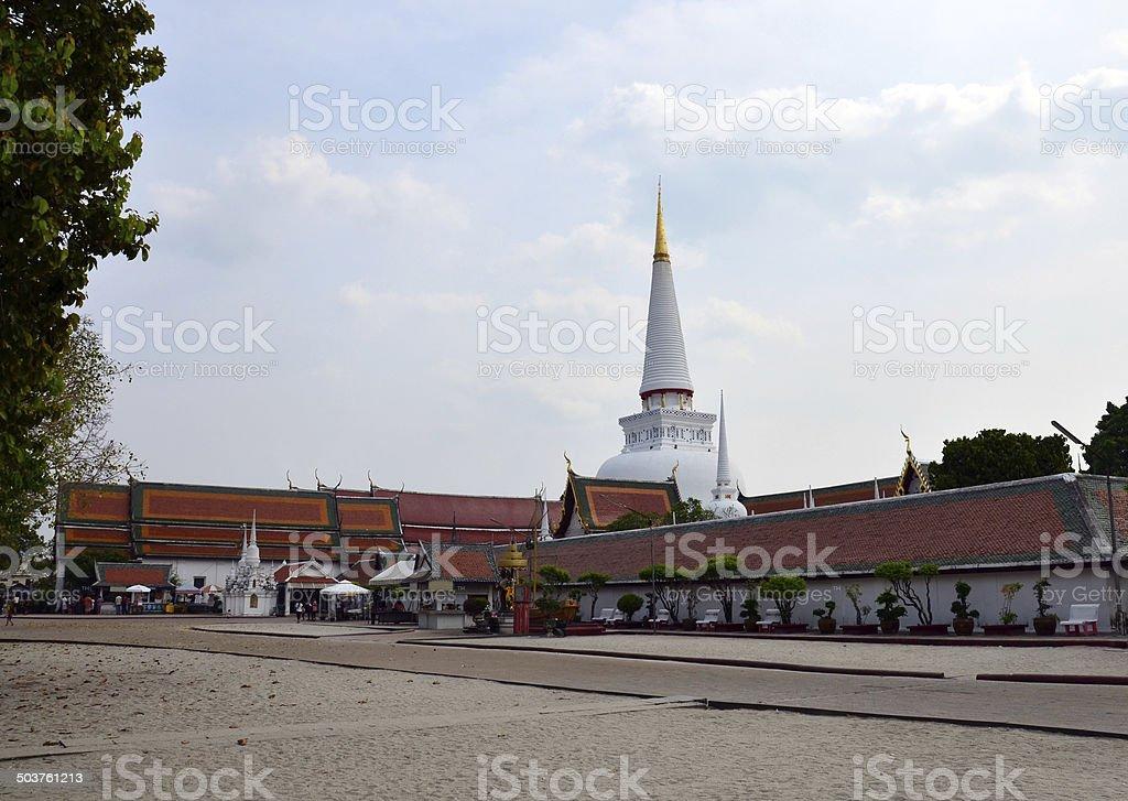 Chedi of Wat Phra Mahathat Woramahawihan stock photo