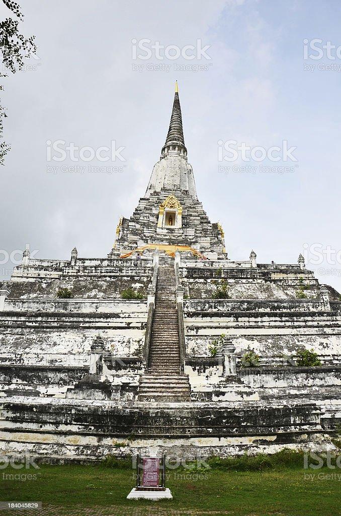 Chedi PhukhaoThong at  Wat Phu Khao Thong of Ayutthaya Thailand royalty-free stock photo