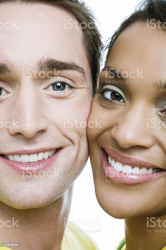 Cheeks together royalty-free stock photo