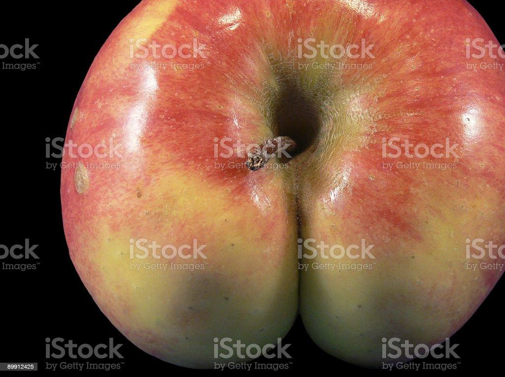 Cheeky Apple stock photo
