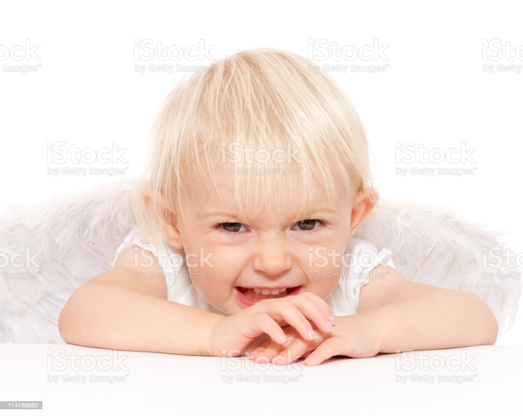 Cheeky cherub royalty-free stock photo