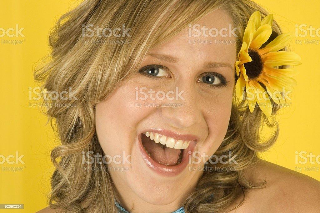 Cheeky Girl royalty-free stock photo