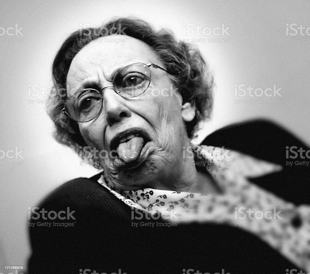 Cheeky grandmother royalty-free stock photo