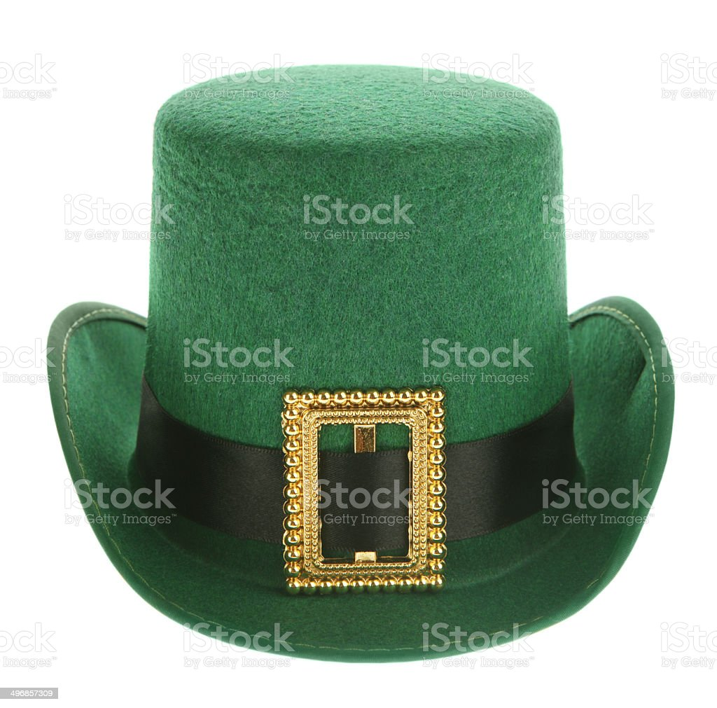 Cheeky Green Leprechaun Hat stock photo