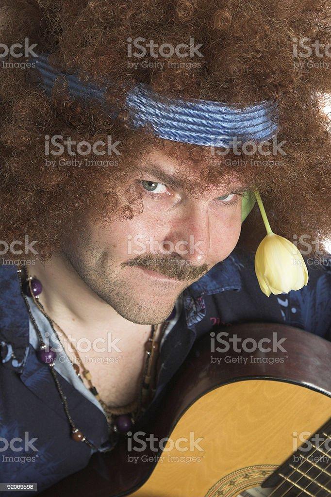 Cheeky hippie royalty-free stock photo