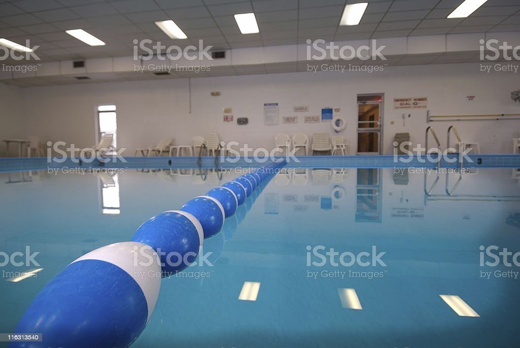Cheep Hotel Pool stock photo