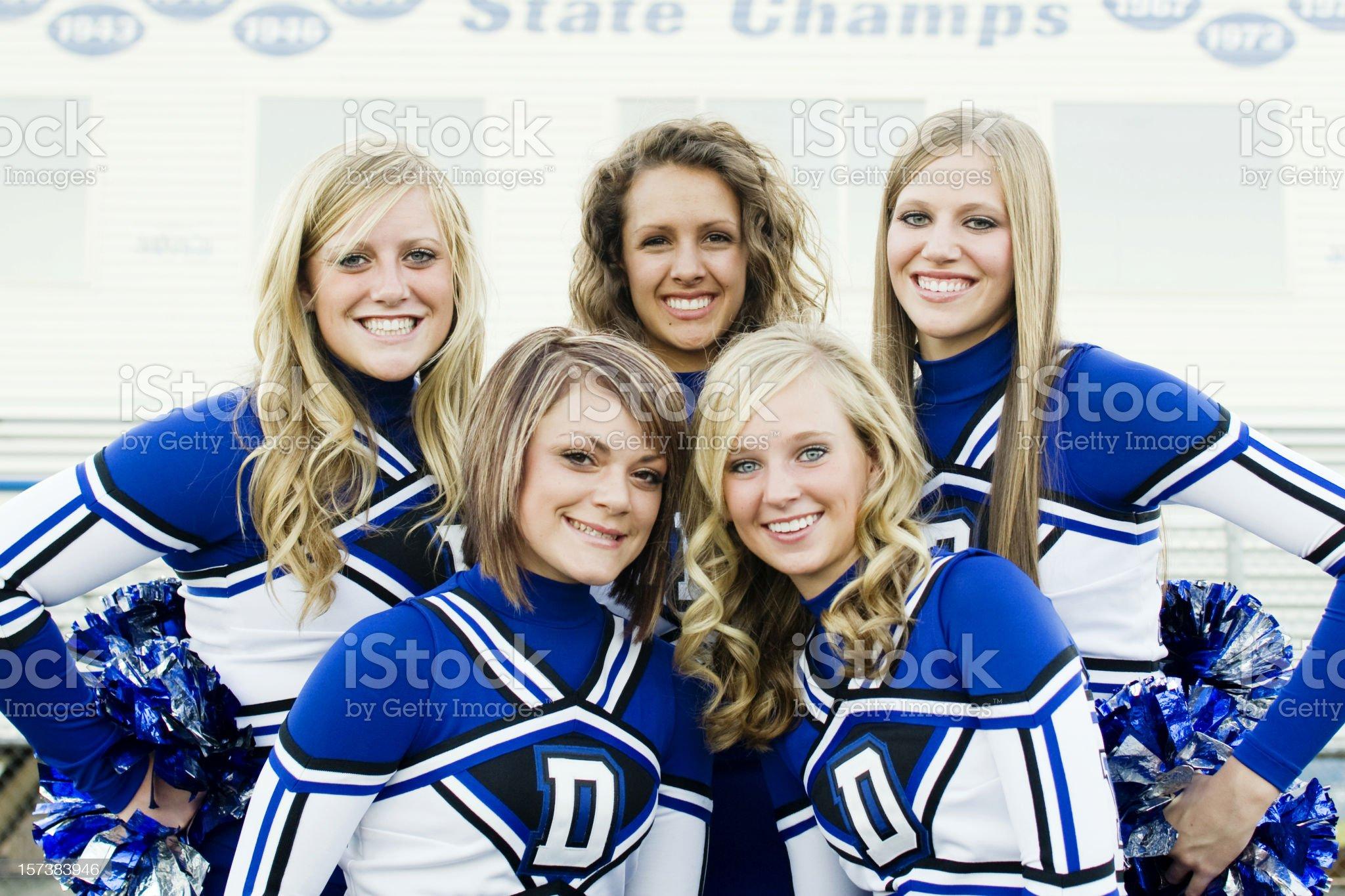 Cheer Team royalty-free stock photo