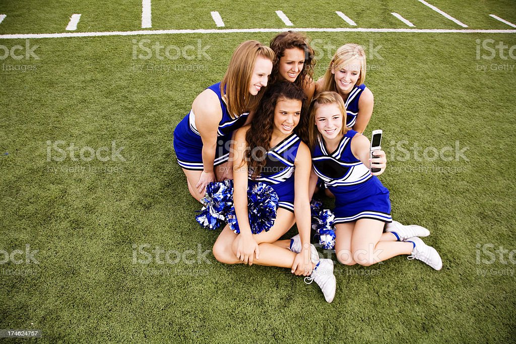 Cheer Team Picture stock photo